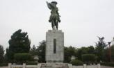 곽재우 동상 앞에서,대구광역시 수성구