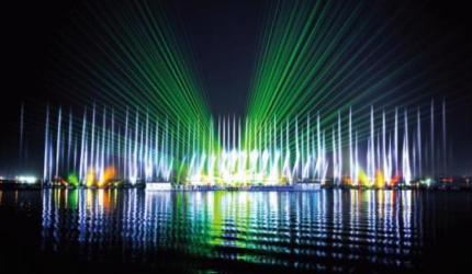 목포에서 즐기는 형형색색 화려한 춤사위, '춤추는 바다분수',전라남도 목포시