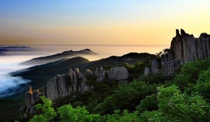 독특한 비경이 함께하는 용봉산자연휴양림,충청남도 홍성군