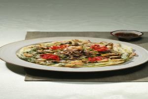 표고버섯해물파전,충청북도 충주시,지역음식