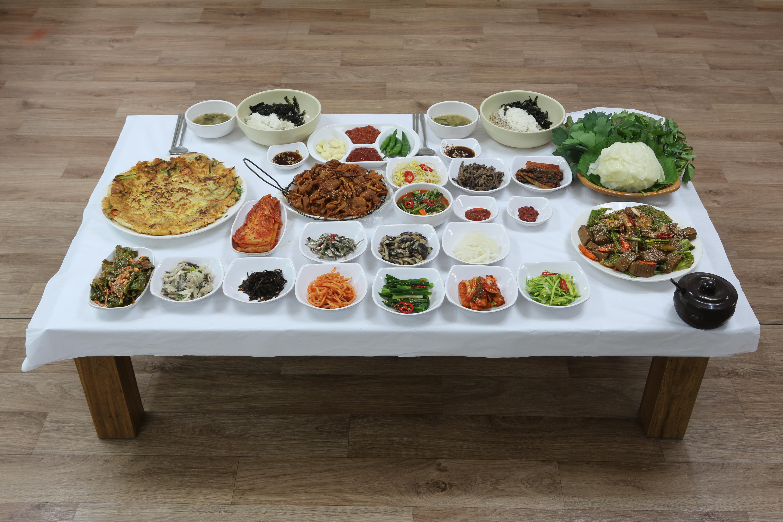 ★산채정식,전라남도 해남군,지역음식