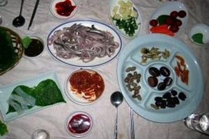 망덕 전어요리(구이, 회무침, 젓갈, 회),전라남도 광양시,지역음식