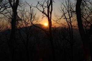 바위산 새벽 산책 끝에 만난 새해의 따스함, 모락산성해맞이축제,경기도 의왕시