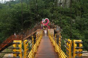 국내에서 제일 긴 출렁다리! '사랑+구름다리'와 만나다, 석문공원  ,전라남도 강진군