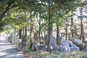 솔숲과 돌과 시가 있는 '시인의길',대구광역시 동구
