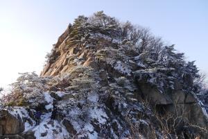 겨울에 붉어지는 양주 불곡산(佛谷山),경기도 양주시