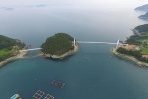 하나로 이어진 두 개의 섬, 연화도~우도 해상보도교,경상남도 통영시