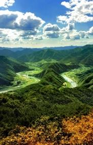 깊은 산 속 꼭꼭 숨겨둔 한반도, 강원 정선 '상정바위산'