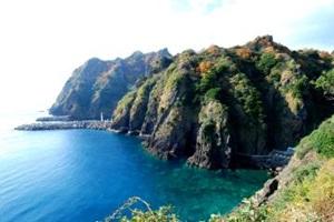 동해바다의 아름다운 바다 전망대, 울릉도 행남해안산책로,경상북도 울릉군