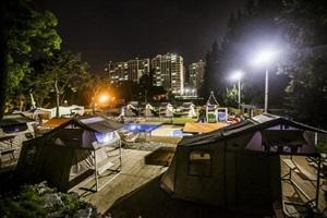 도심에 마련된 오아시스, 광주 캠핑마을,광주광역시 서구