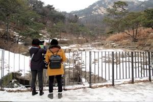 수묵화 속의 풍경, 눈 내린 인왕산,서울특별시 종로구