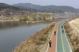 금호강 자전거길에서 친구에게 보내는 힐링편지,대구광역시 북구