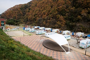 치산관광지의 아름다움을 만끽할 수 있는 곳, 치산관광지캠핑장