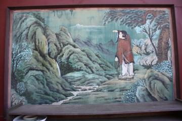 석가의 생애를 그린 '팔상도'의 한 장면